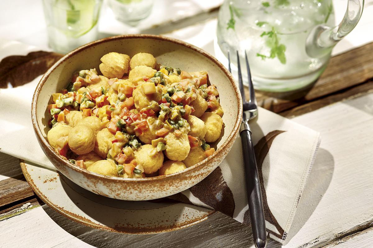 Salada de Noisettes Com Maionese, Atum e Vagem
